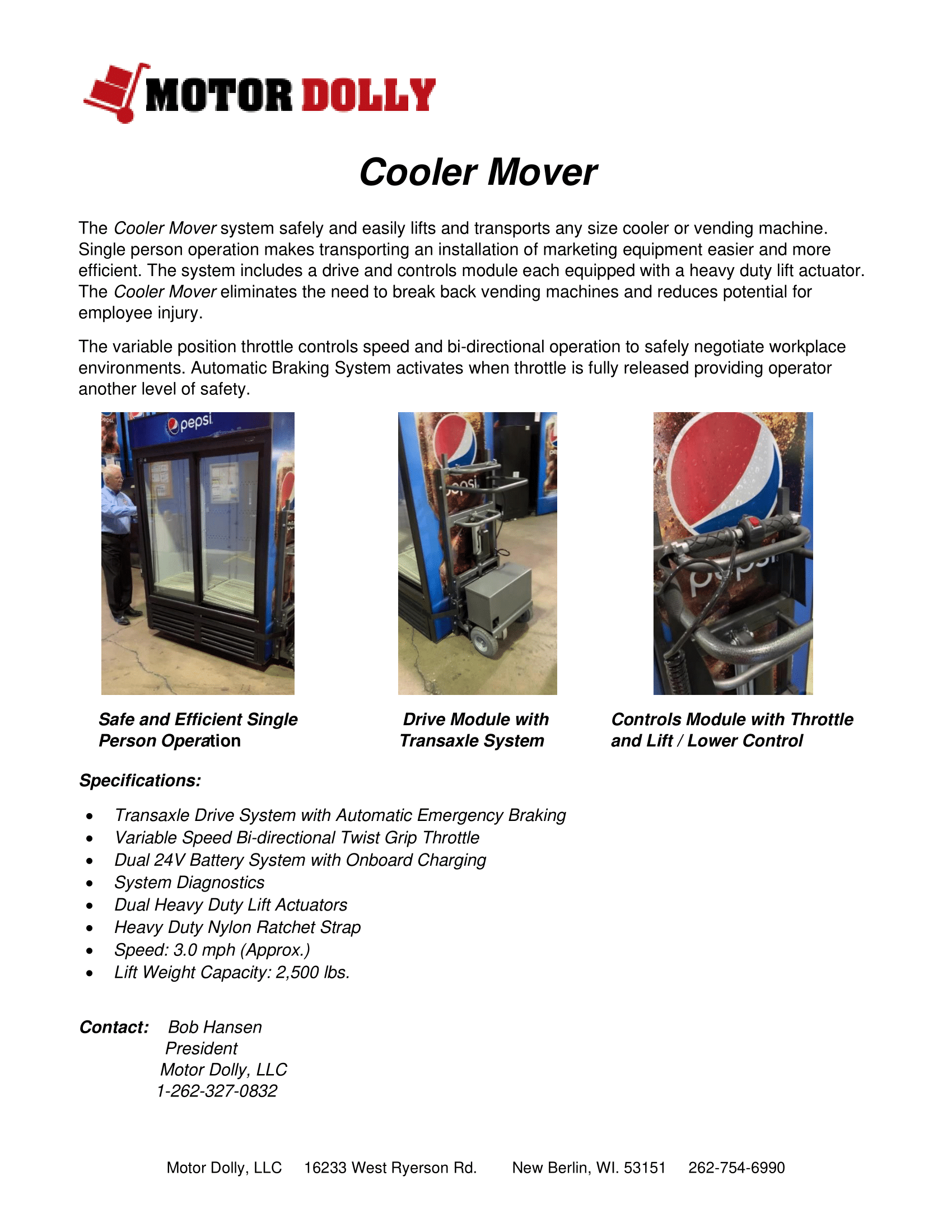 Cooler Mover-brochure-Motor Dolly